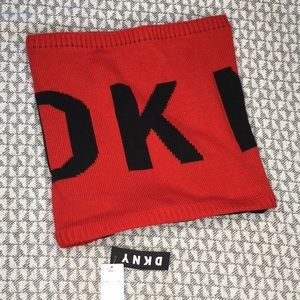 DKNY spell out scarf red black new